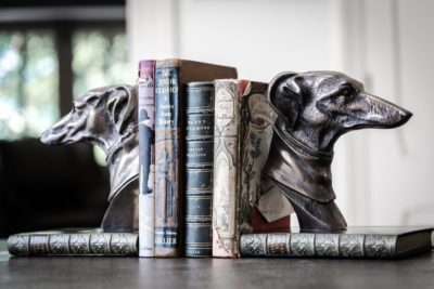 Greyhound bookends pair f0441