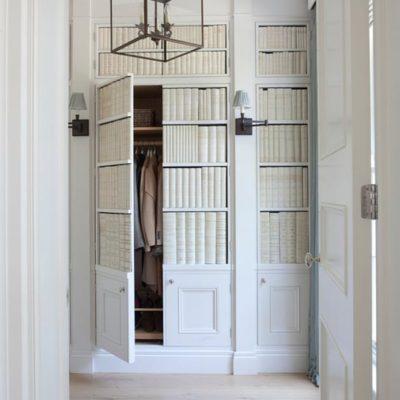 Hidden wardrobe vellum faux books